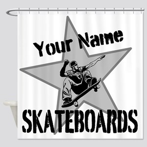 Custom Skateboards Shower Curtain