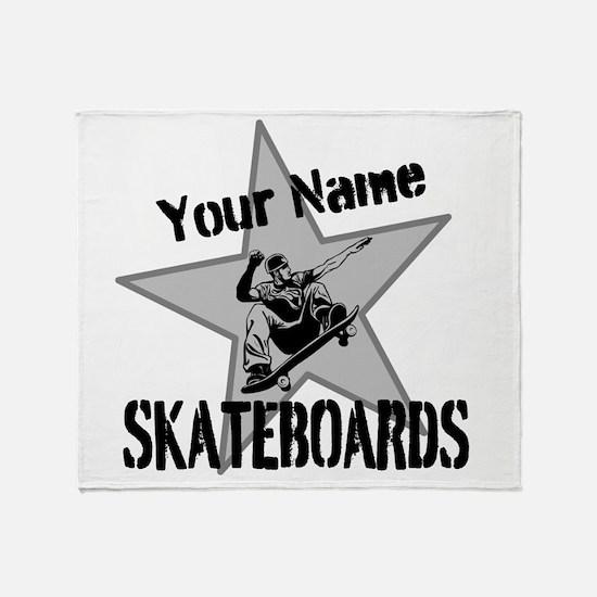 Custom Skateboards Throw Blanket