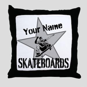 Custom Skateboards Throw Pillow