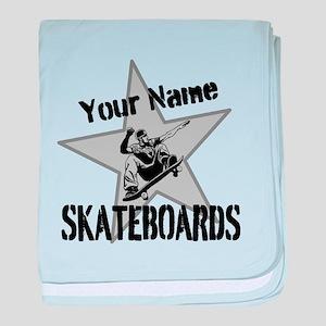 Custom Skateboards baby blanket