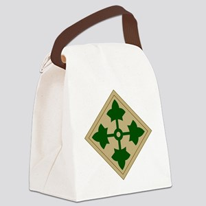 4th Infantry Division Canvas Lunch Bag