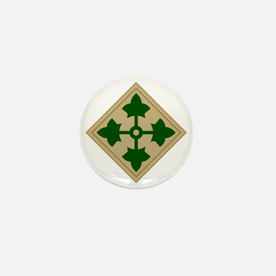 4th Infantry Division Mini Button