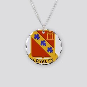 319th Field Artillery Crest Necklace Circle Charm