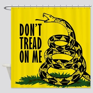 button Dont Tread On Me Shower Curtain