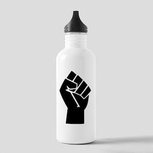 black-powerTransparent Stainless Water Bottle 1.0L