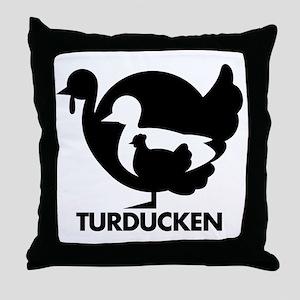 Turducken Throw Pillow