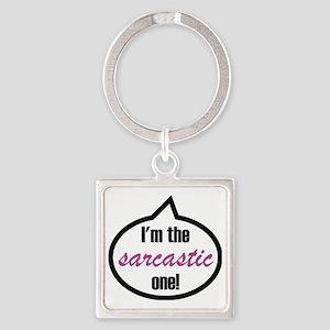 Im_the_sarcastic Square Keychain