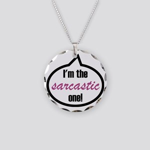 Im_the_sarcastic Necklace Circle Charm