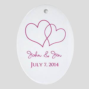 Custom Wedding Favor Ornament (Oval)