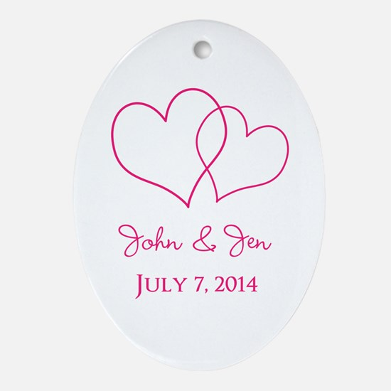 Custom Wedding Favor Ornament (Oval)