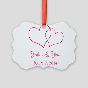 Custom Wedding Favor Ornament