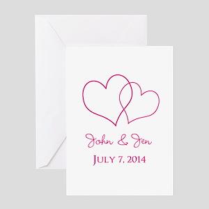 Custom Wedding Favor Greeting Cards