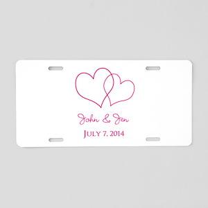 Custom Wedding Favor Aluminum License Plate