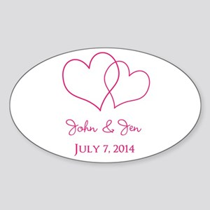 Custom Wedding Favor Sticker