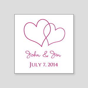 Custom Wedding Favor Sticker