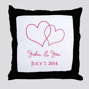 Custom Wedding Favor Throw Pillow