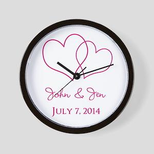 Custom Wedding Favor Wall Clock