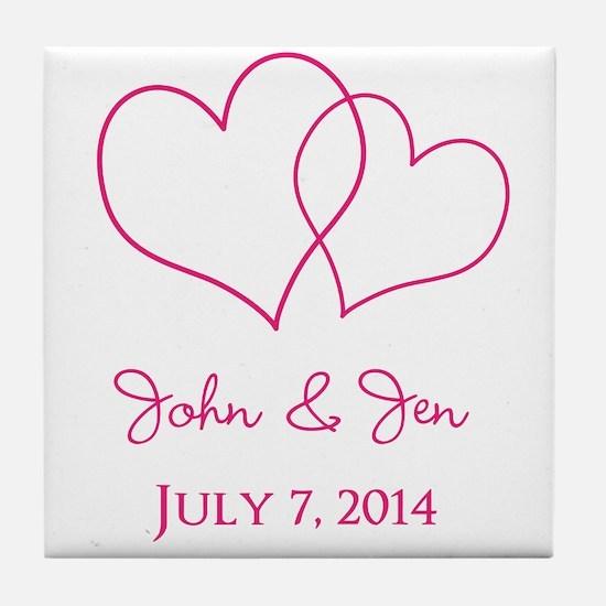Custom Wedding Favor Tile Coaster