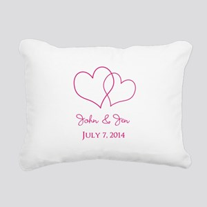 Custom Wedding Favor Rectangular Canvas Pillow