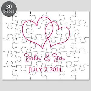 Custom Wedding Favor Puzzle