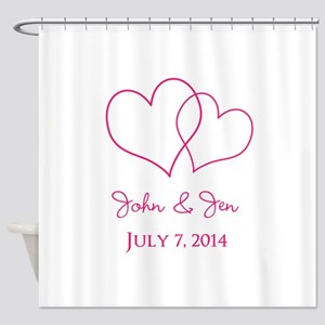 Custom Wedding Favor Shower Curtain