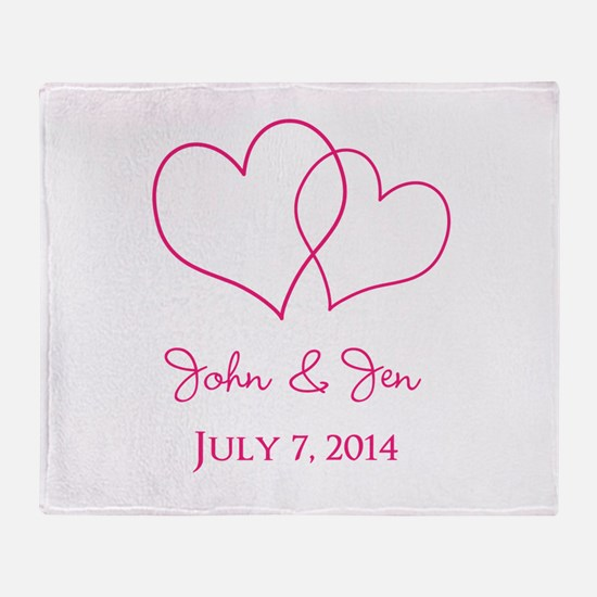 Custom Wedding Favor Throw Blanket