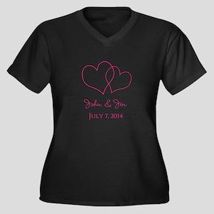 Custom Wedding Favor Plus Size T-Shirt