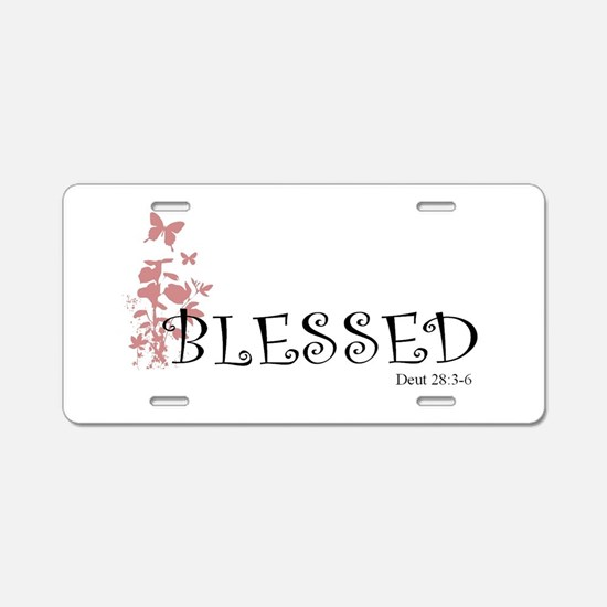 Cute Christian butterfly Aluminum License Plate