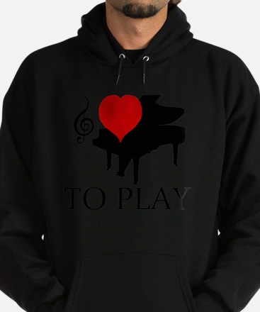 I love to Play Hoodie (dark)