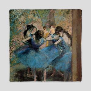 Dancers in blue by Edgar Degas Queen Duvet