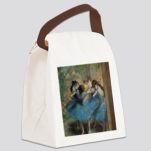 Dancers in blue by Edgar Degas Canvas Lunch Bag