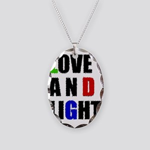 Love and Light Mas Necklace Oval Charm