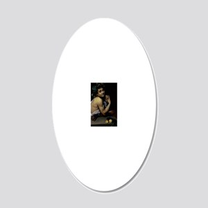 The Sick Bacchus by Michelan 20x12 Oval Wall Decal