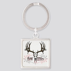 Bow hunting,deer skull Square Keychain
