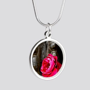 Bodhi Tree Flower Silver Round Necklace
