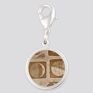galileo-moon-phases Silver Round Charm
