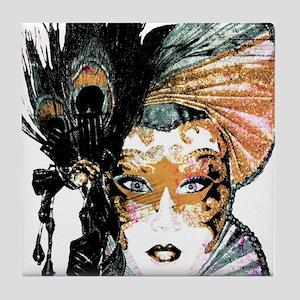 faceMask_Grunge_3_apron Tile Coaster