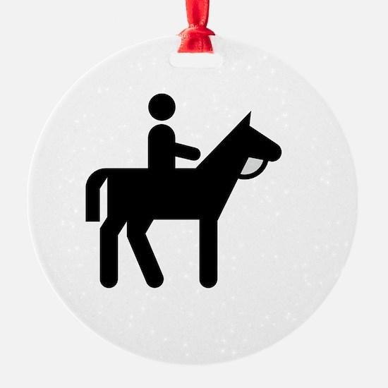 Horses Broke White Ornament
