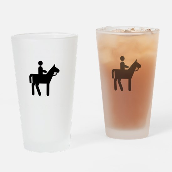 Horses Broke White Drinking Glass