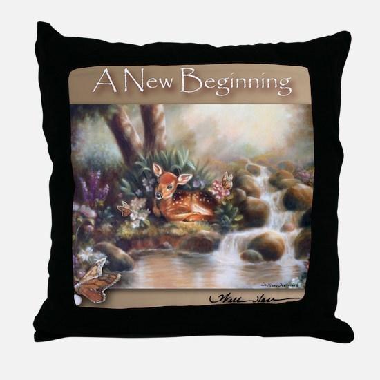 """""""A New Beginning"""" Fine Art Nature's Fawn Pillow"""