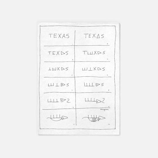 Texas Armadillo 5'x7'Area Rug
