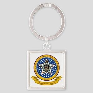 Oklahoma Seal Square Keychain