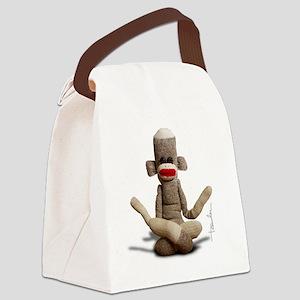 Zen Sock Monkey Canvas Lunch Bag