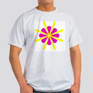 Pink Yellow Crest Designer Light T-Shirt
