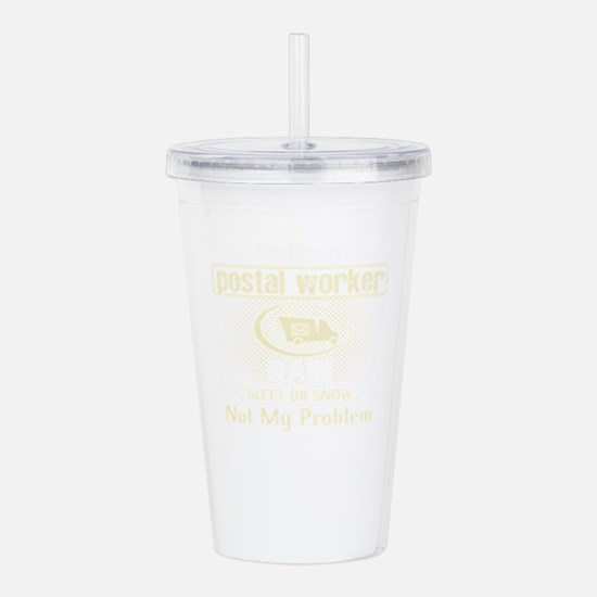 Retired Postal Worker Acrylic Double-wall Tumbler