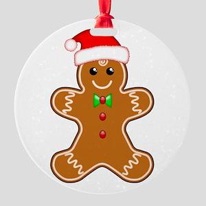 Gingerbread Man with Santa Hat Ornament