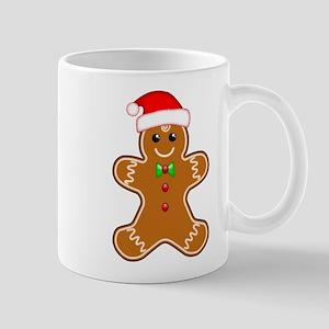 Gingerbread Man with Santa Hat Mugs
