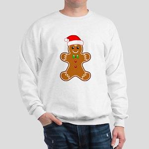 Gingerbread Man with Santa Hat Sweatshirt