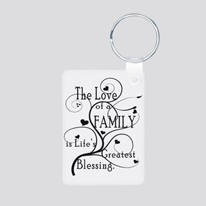 LoveOfFamily1 Aluminum Photo Keychain