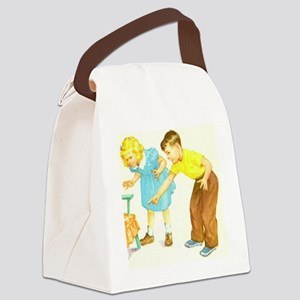 dick-jane Canvas Lunch Bag